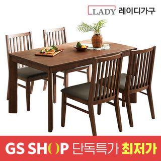 [단독최저가] 포엠 4인용 원목 식탁세트 (의자4), 366000원, GSSHOP