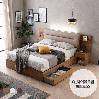 [에몬스홈] 엘리 LED 서랍형 침대(Q)_하이유로탑 매트, 699000원, GSSHOP