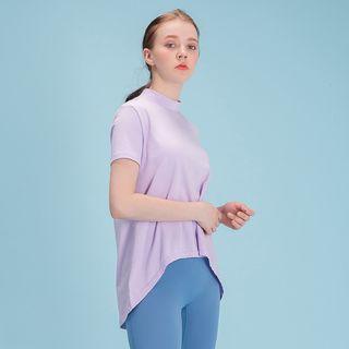 DURAN 에이라인 반목폴라 반팔 티셔츠 DFW5017 연보라, 17900원, GSSHOP