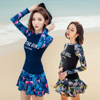 M~XXL 패턴 치마 여성래쉬가드세트 여자레쉬가드 빅사이즈수영복, 29900원, GSSHOP