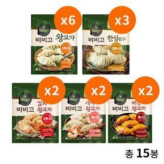 CJ제일제당 비비고bibigo 만두 최대인기 5종 15봉, 39900원, GSSHOP