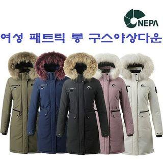 [현대백화점][네파] 여성 겨울 패트릭 캐쥬얼 롱 야상 구스다운자켓_7E82028, 114800원, GSSHOP
