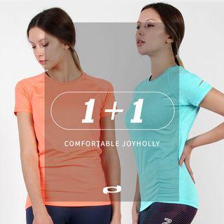 요가복 상의 반팔 티셔츠 F 2종 필라테스 여성 운동복 세트 JY148, 11800원, GSSHOP