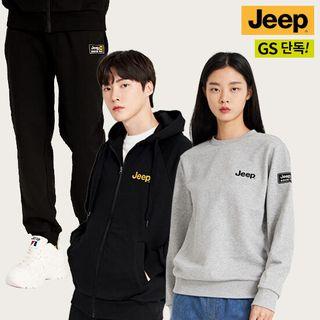 [지프 JEEP] 21FW 남녀공용 이지웨어 후드집업+맨투맨+조거 팬츠 3종, 109000원, GSSHOP