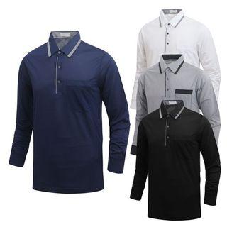 남성 골프웨어 폴로 긴팔 봄가을 카라 티셔츠 NALT003, 13820원, 홈&쇼핑
