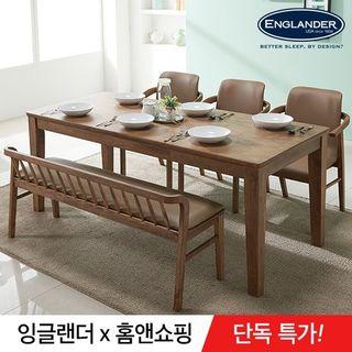 잉글랜더 아모스 고무나무 원목 6인용 식탁(의자 미포함), 242730원, 홈&쇼핑