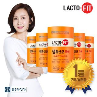 종근당건강 락토핏 코어 프롤린 생유산균 10개월분 (60포 X 5통), 92200원, 홈&쇼핑