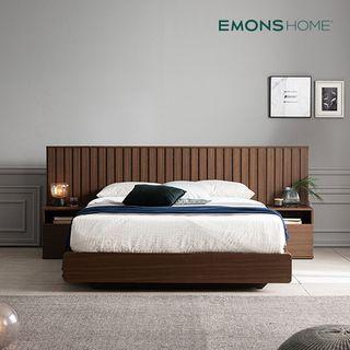 에몬스홈 [에몬스홈]밀레 호텔 평상형 침대 Q (하이유로탑매트/협탁포함), 629360원, 롯데홈쇼핑
