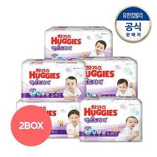 하기스 [2박스구성] NEW 신제품 하기스 맥스드라이 밴드형 기저귀 1~5단계 택일, 72450원, 롯데홈쇼핑