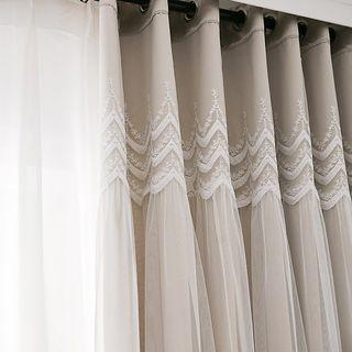지나송 [지나송]클라라 웨딩스타일 암막커튼 슈퍼특대형(620×230cm), 163000원, 롯데홈쇼핑