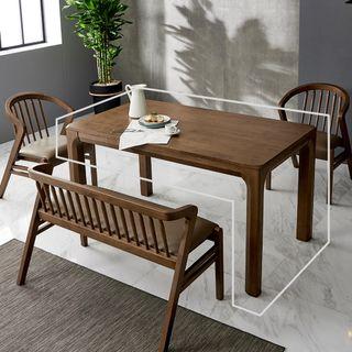 데코마인 [데코마인]론디 고무나무원목 1400 4인식탁 테이블 4인용식탁, 263720원, 롯데홈쇼핑