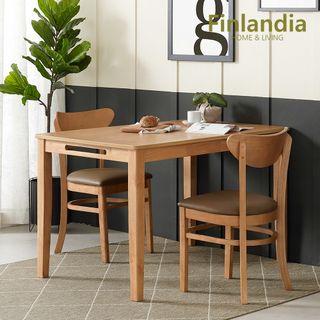 핀란디아 핀란디아 콜린 2인식탁세트(와이드형/의자2), 160550원, 롯데홈쇼핑