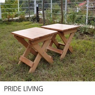 프라이드리빙 [프라이드리빙]접이식 원목의자 2개/야외 테라스 티테이블 의자/테라스의자/캠핑의자/야외의자, 65070원, 롯데홈쇼핑
