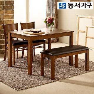 동서가구 컨셉트 K 4인용벤치 식탁세트 DF902770, 148290원, 롯데홈쇼핑