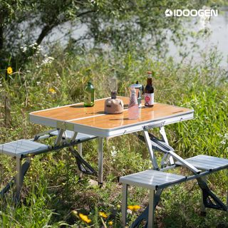 패스트캠프 아이두젠 접이식 일체형 피크닉 캠핑 우드 테이블, 56900원, 롯데홈쇼핑