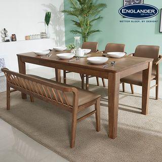 잉글랜더 [잉글랜더]아모스 고무나무 원목 6인용 식탁(의자 미포함), 257400원, 롯데홈쇼핑