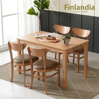 핀란디아 핀란디아 콜린 4인식탁세트(의자4), 190000원, 롯데홈쇼핑