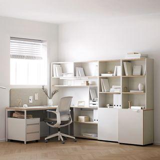 데스커 [데스커] 1400폭 5단 콘센트형 책상세트, 412780원, 롯데홈쇼핑