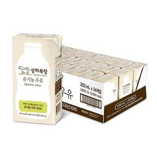 상하목장 유기농 우유 200ml 24팩 2박스 총48팩_무배, 37900원, CJ오쇼핑
