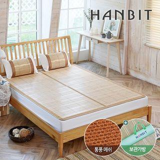 한빛카페트 콤비 통풍매쉬 대자리 브라운 2인용, 46410원, CJ오쇼핑