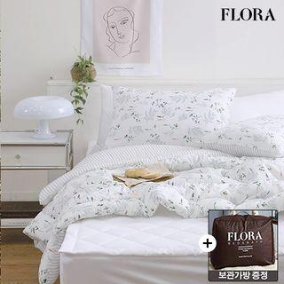 플로라 라벤더 프리미엄 모달 코튼 차렵이불 단품/세트 SS/Q/K, 54000원, CJ오쇼핑