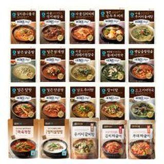 청정원 x집으로 ON 국탕류 22종 골라담기, 2590원, NS홈쇼핑