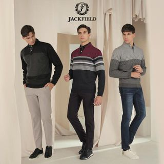 [잭필드] 남성 스웨터 본딩 레이어드 셔츠 3종 패키지, 53820원, 아임쇼핑