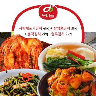 도미솔김치4종세트(11kg/포기,물,총각,열무), 39900원, 아임쇼핑
