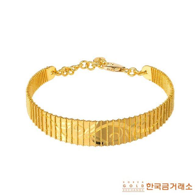한국금거래소 24K 순금 아우름 팔찌(26.25g)
