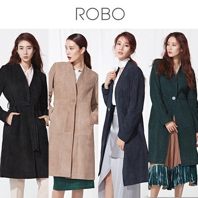 로보 스웨이드 가죽재킷 이태리100% ★런칭가499천원로보 이태리100% 스웨이드 노카라 코트