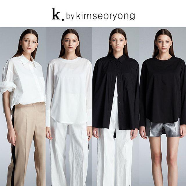 k by 김서룡 썸머블라우스 세트 (카라+노카라bl 2종)