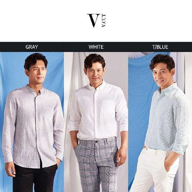 오지호의 V.CUT(브이컷) 썸머 린넨 셔츠 3종세트