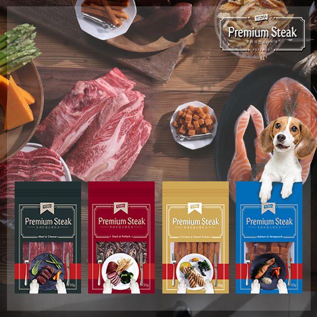 [미국 FDA 등록시설] 프리미엄급 페츠모아 애견간식 총25종 세트(고양이급여가능) (소고기치즈7봉, 오리황태7봉, 치킨고구마7봉, 연어햄프시드 3봉, 무료체험분1봉)