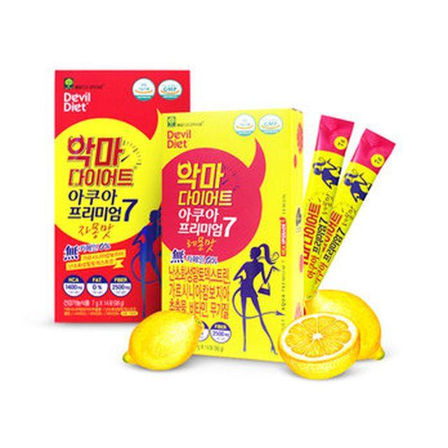 [TV]악마다이어트 아쿠아프리미엄7 총 12박스/24주분(레몬맛 6박스+자몽맛 6박스)