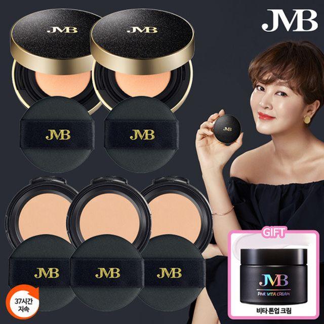JMB 아쿠아 파운데이션 쿠션 팩트 본품2+리필3+크림