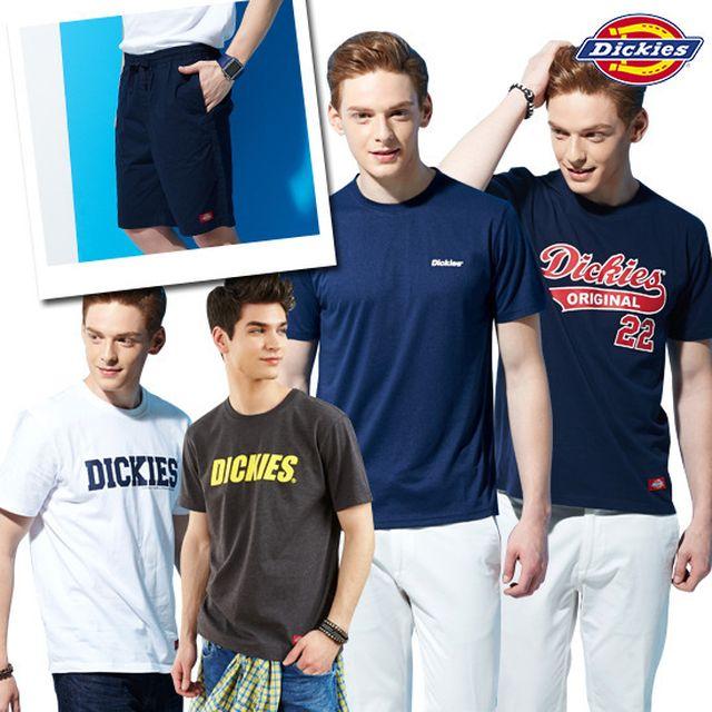 디키즈 남성용 티셔츠 5종세트(티셔츠 4종+반바지 1종)