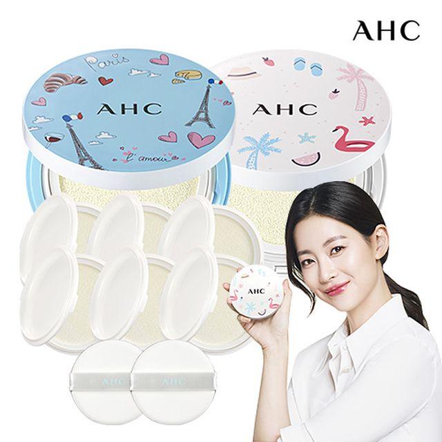 [릴레이팡팡 상품] AHC 메가 썬쿠션 프렌치에디션 패키지(블루+화이트/8개용량)
