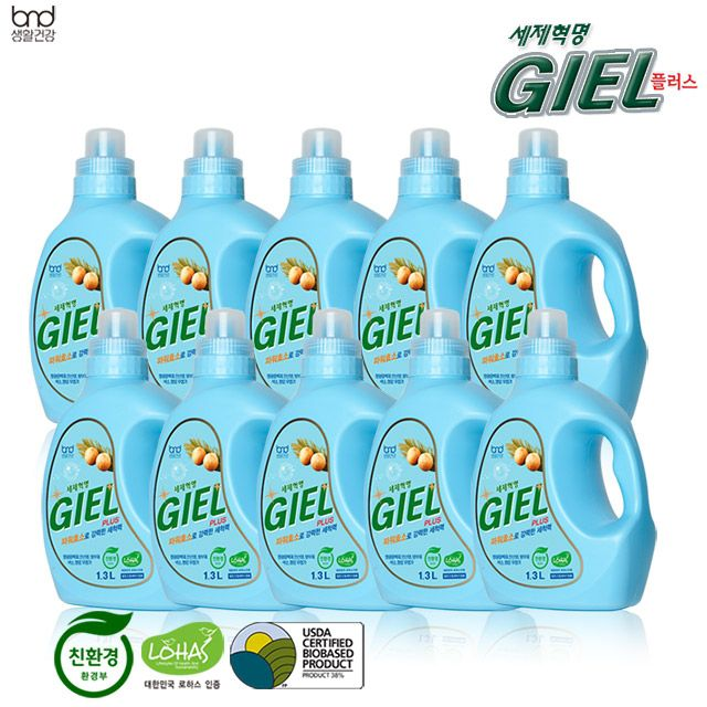 [반값세일] 세제혁명 지엘플러스 10통 대용량 구성 세탁세제