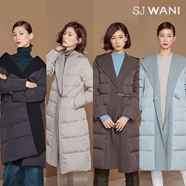 SJ WANI 이태리니트숄 구스다운코트
