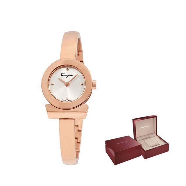 페라가모 간치노 로즈골드 메탈 여성 시계