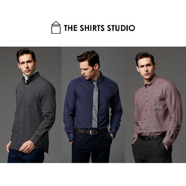 더 셔츠 스튜디오 남성 링클프리 윈터셔츠 3종