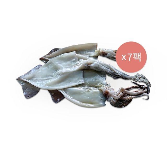 자연밥상 촉촉한 손질오징어 1팩(3미, 300g) * 7팩 / 총 21미( 2.1kg)