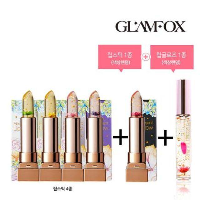 [글램폭스] 플로리사 립스틱 세트 (본품5종 + 립글로즈1종)