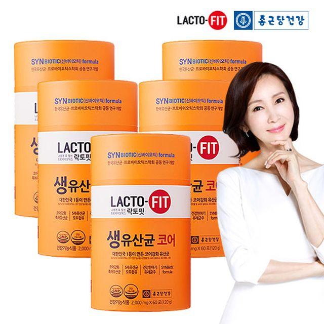 [릴레이팡팡 상품] 종근당건강 락토핏 코어 프롤린 생유산균 10개월분 (60포 X 5통)