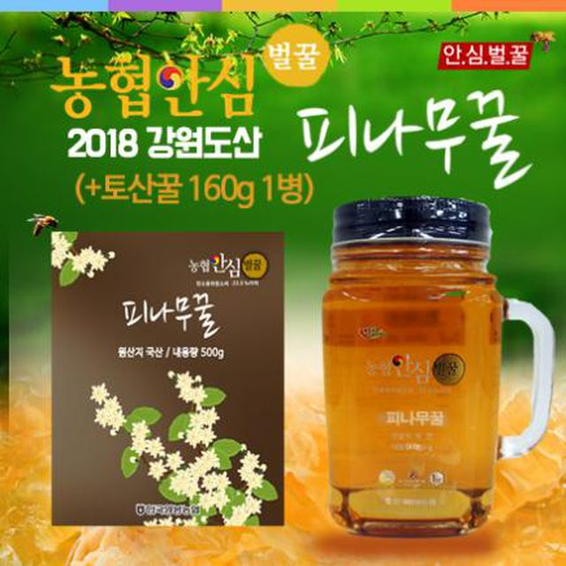 농협안심피나무꿀500g×4병+토산꿀160gx1병