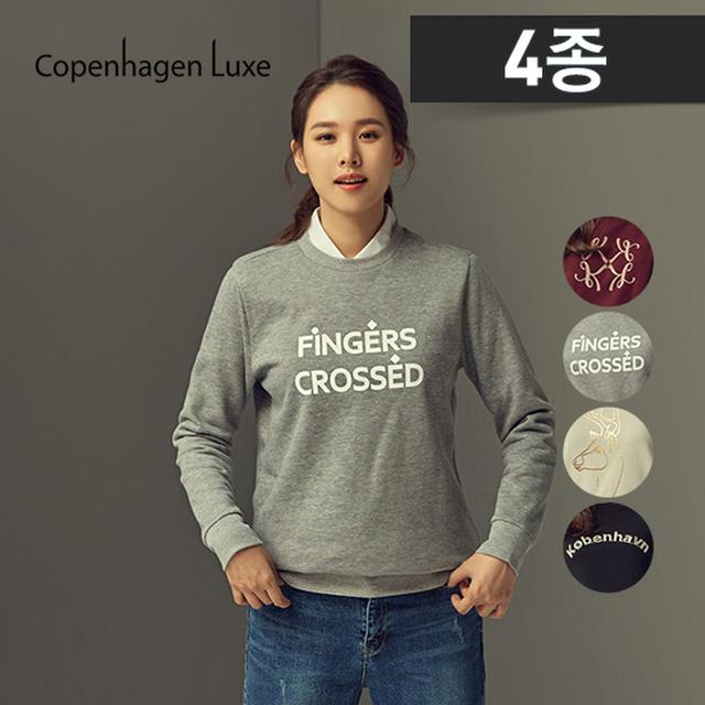 코펜하겐럭스 여성 아트웍 스웨트 티셔츠 4종 (맨투맨 라운드)