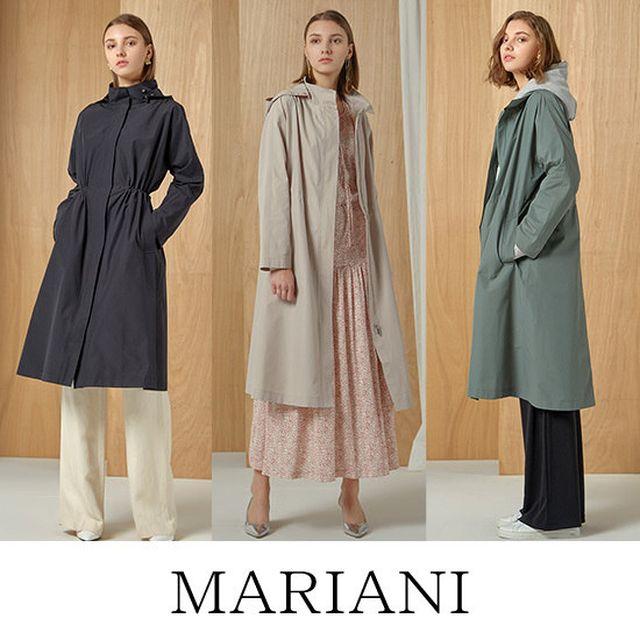 MARIANI 마리아니 S/S 롱 후드 트렌치코트