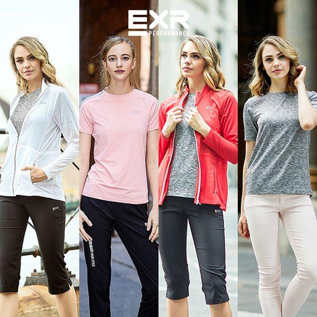 EXR 여성 브레서블 에어메쉬트랙수트+스트레치트랙수트+액티브셔츠 총 5종