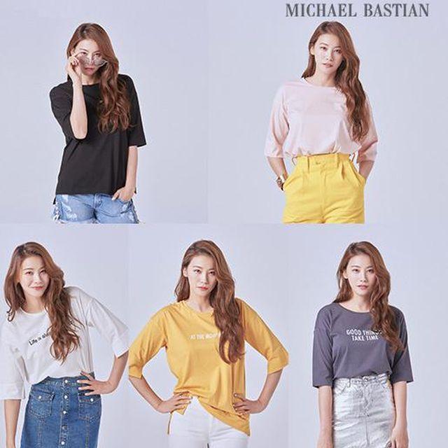 19SS 최신상마이클바스티안 여성 레터링 티셔츠 5종