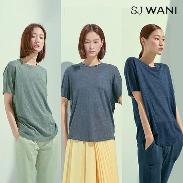 SJ WANI 린넨100 썸머 티셔츠 3종(런칭가 89,900원)